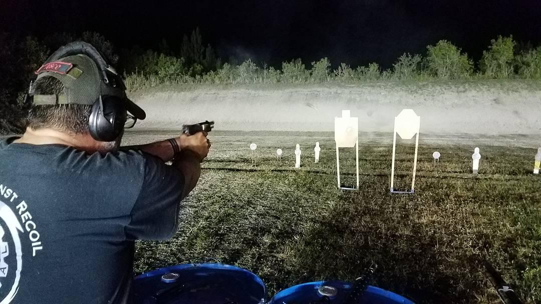 fuscoken Getting his pistol on at southfloridapistolclub 3gun night 3gunhellip